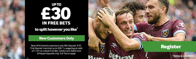 Betway Betting Welcome Bonus Sign Up Offer £30
