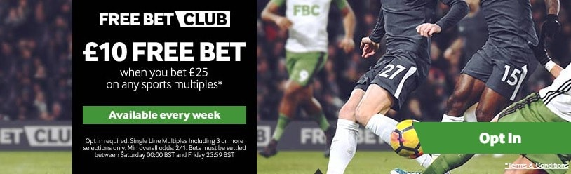 Betway Football Free Bet Club