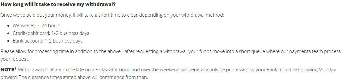 Betway Withdrawal Time and Banking FAQ