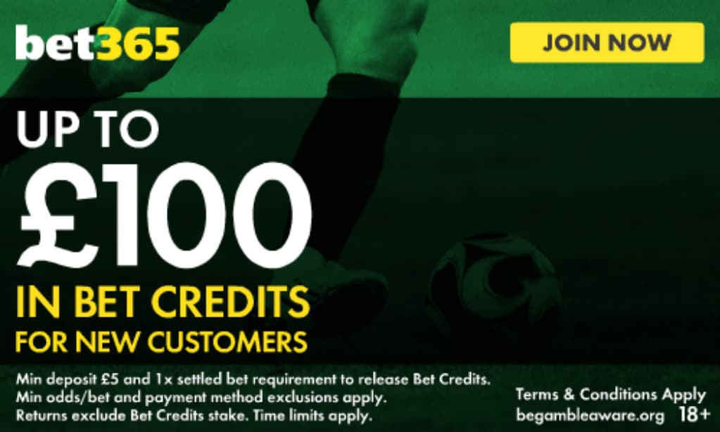 bet365 Football Betting Up To £100 In Bet Credits‎ Welcome Offer