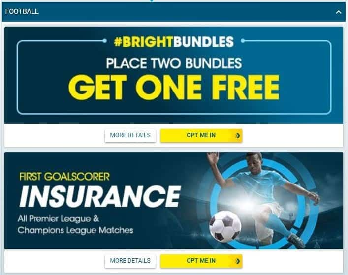 BetBright Football Betting Promotions