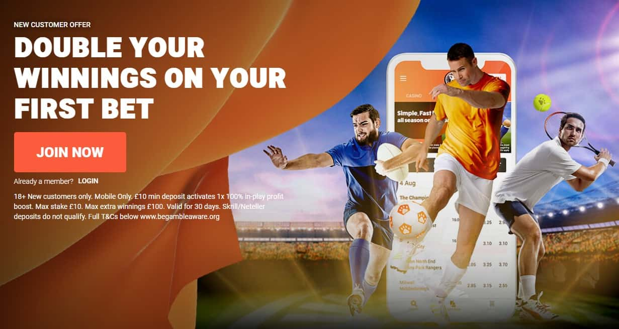 888 Football Betting Welcome Offer Double First Bet