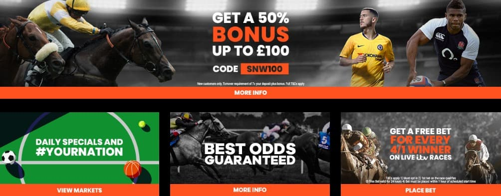 SportNation Sports Betting Bonuses and Promotion