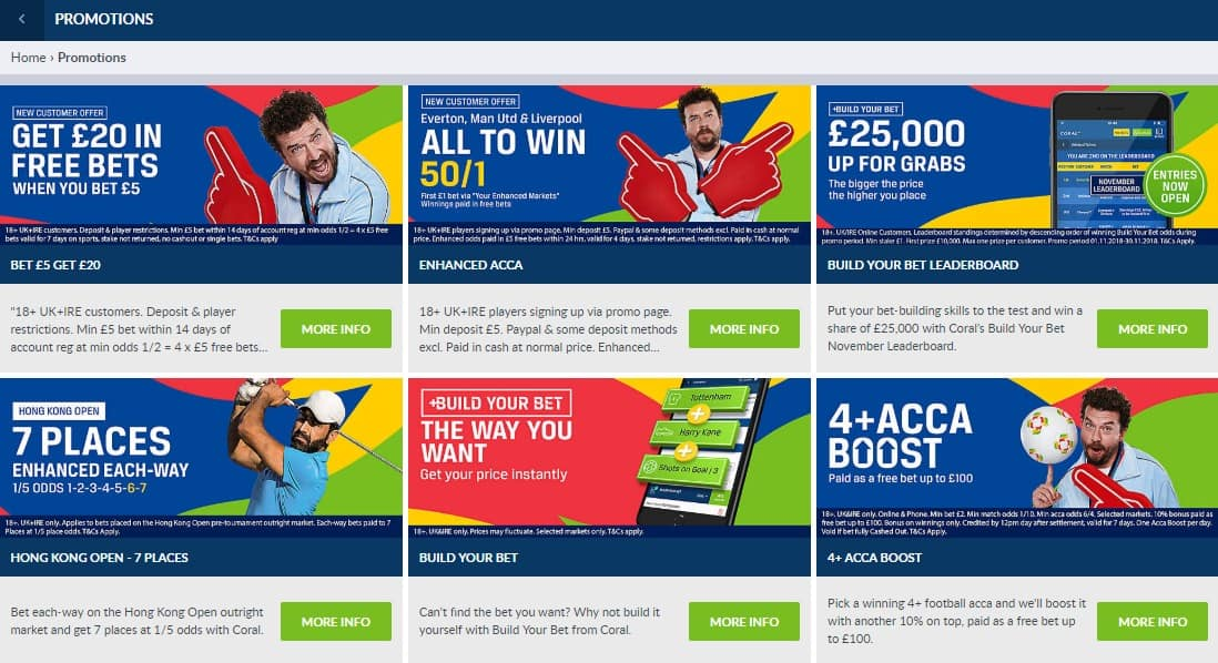 Coral Football Betting Promotions