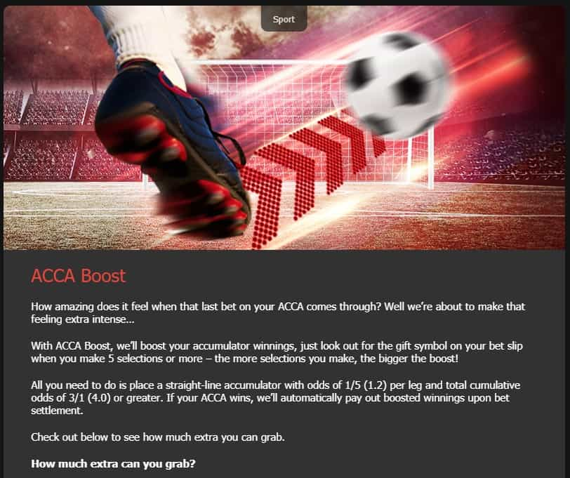 MansionBet Football ACCA Boost Promotion