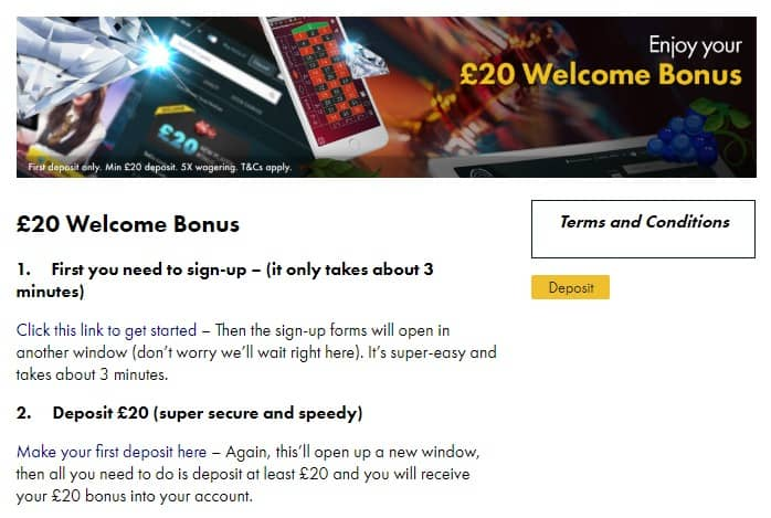 Grosvenor Betting Welcome Bonus £20