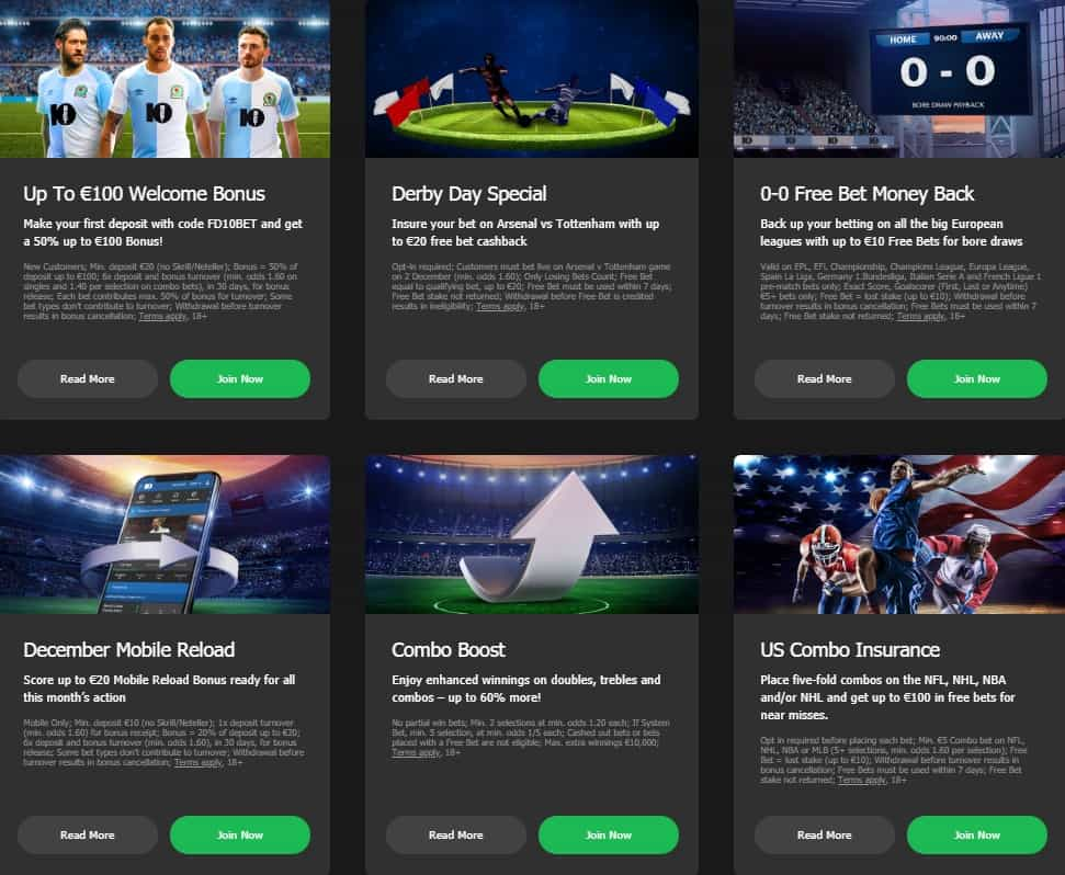 10Bet Sports Betting Pormotions and Bonuses