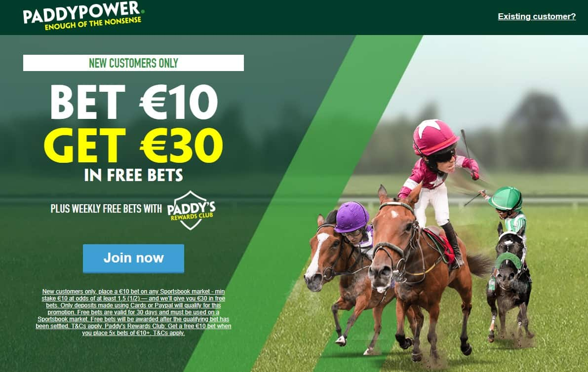 Paddy Power Football welcome offer details and terms