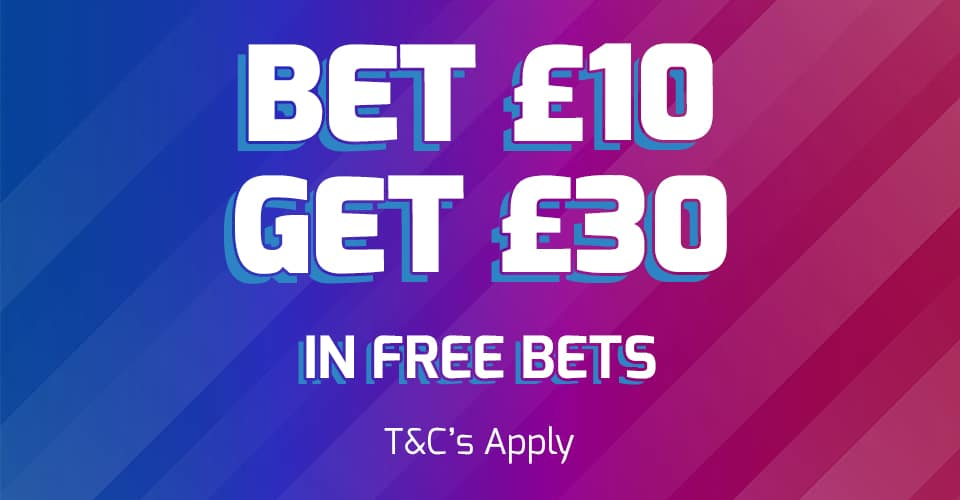 Betfred Betting Welcome Offer Bet £10 Get £30