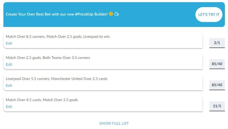 BetVictor Football Betting Create Your Own Bet