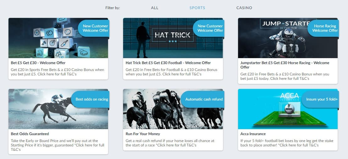 BetVictor Sports Promotions