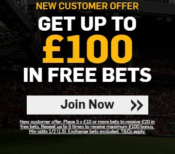 Betfair Football Betting - Up To £100 In Free Bets Welcome Offer
