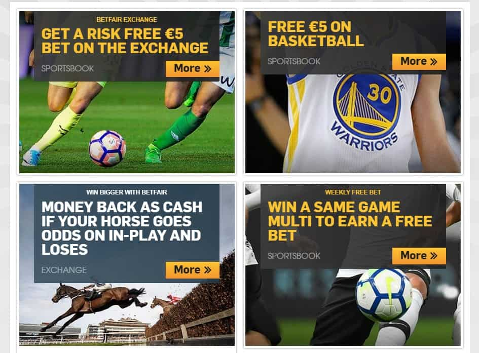 Betfair Sports Ongoing Promotions