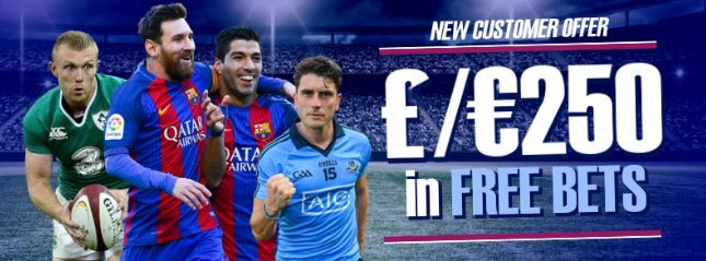 Toals Football Up to £250 in Free Bets Welcome Offer