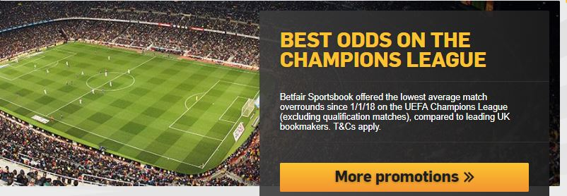 Betfair Best Odds on the Champions League