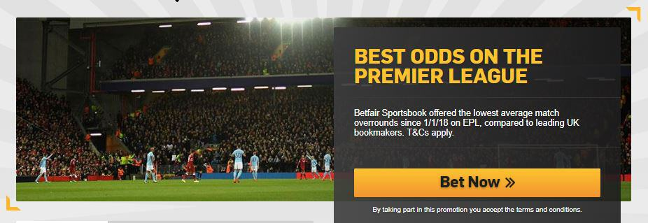 Betfair Best Odds on the Premier League