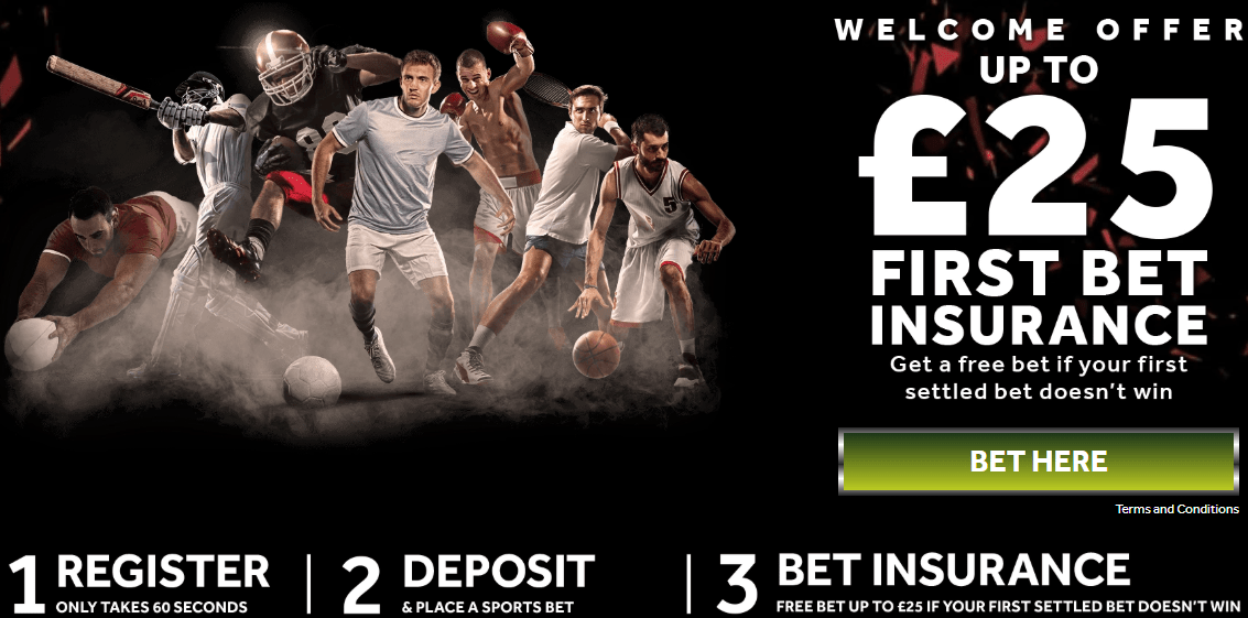 Genting Bet Football and Sports Welcome Offer - £25 in First Bet Insurance