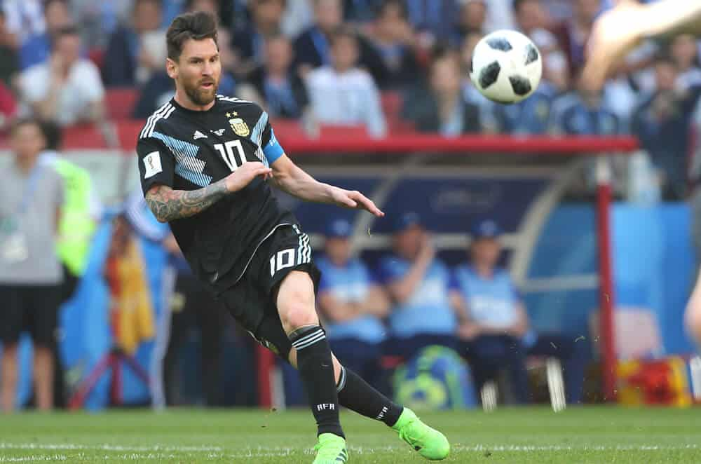 Lionel Messi in action during the match Fifa World Cup Russia 2018.