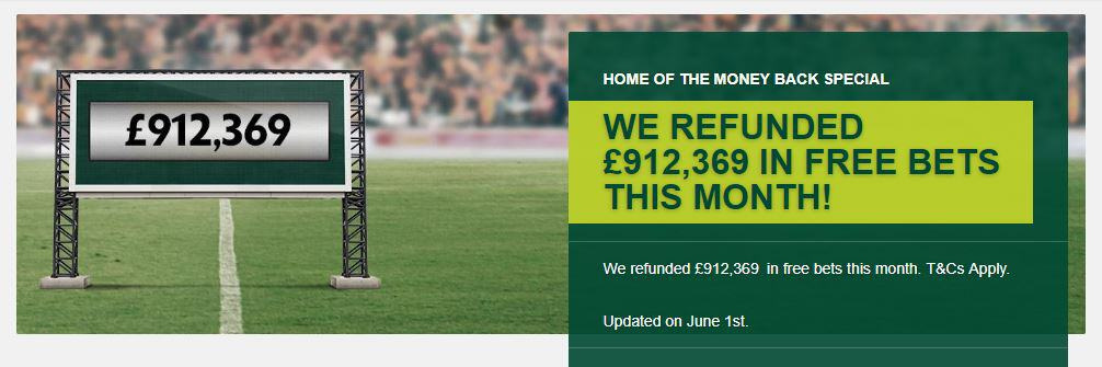 Paddy Power Money Back Specials