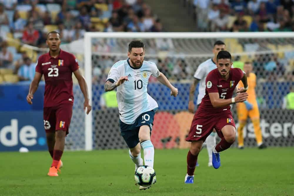 Soccer player Lionel Messi, during the Venezuela vs Argentina match