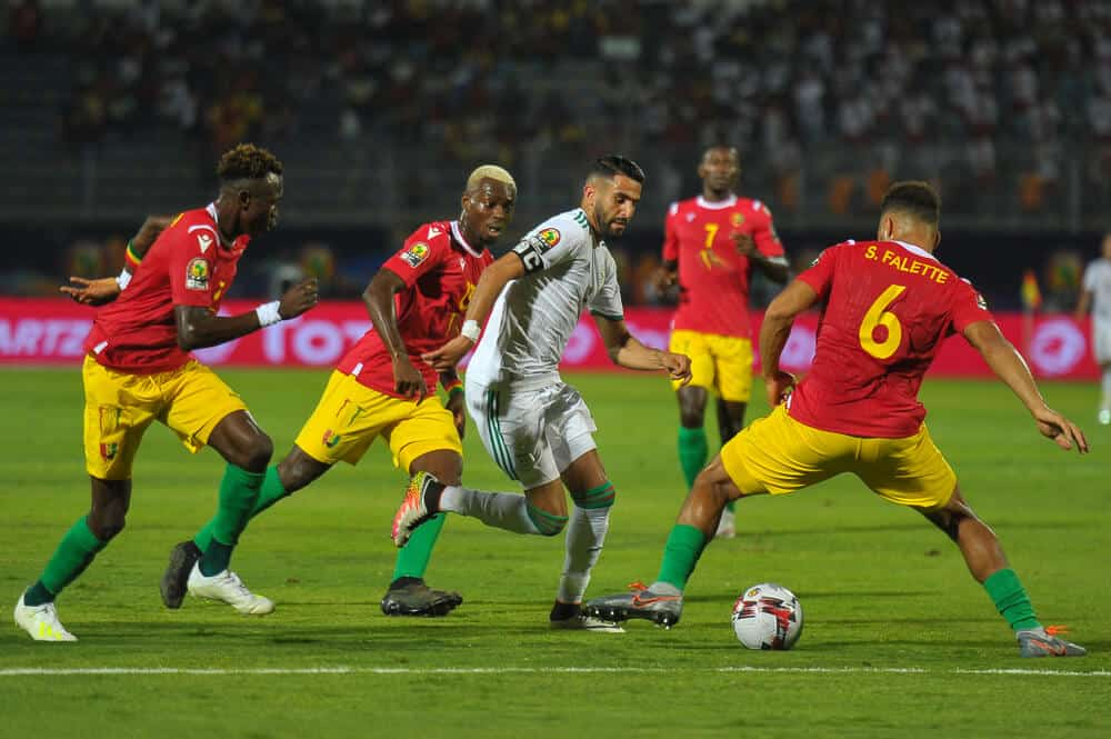 The Algerian team wins 3-0 in Guinea in the 16th round of the 2019 African Nations Cup on June 30 stadium