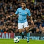 Raheem Sterling During the Champions League match Manchester City - Feyenoord at the Etihad Stadium
