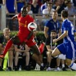 Sadio Mane during the 2016 ICC game between Chelsea & Liverpool on July 27th 2016 at the Rose Bowl in Pasadena California.