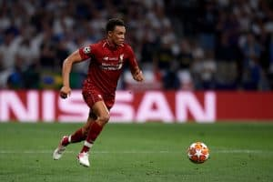 Arnold of Liverpool during the UEFA Champions League Final between Tottenham Hotspur and Liverpool at Estadio Wanda Metropolitano on June 1, 2019 in Madrid, Spain