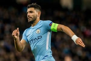 Sergio Aguero During the Champions League match Manchester City - Feyenoord at the Etihad Stadium