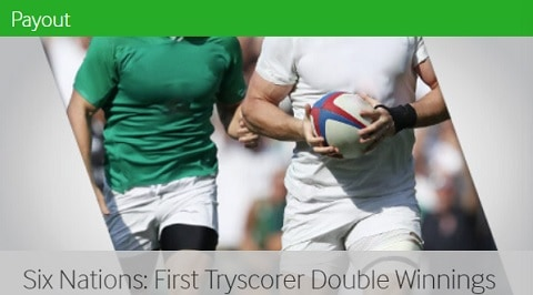 Betway Six Nations - First Tryscorer Double Winnings
