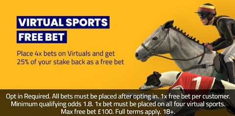 SportNation Virtual Sport Free Bet