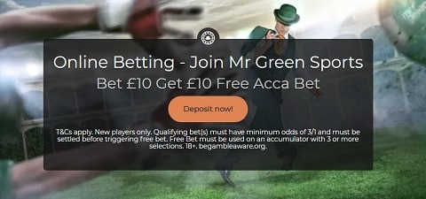 Mr Green Sports Sign Up Offer
