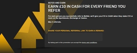 Betfair Refer and Earn