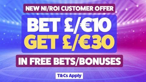 Toals New NI-ROI Customer Offer Bet 10 Get 30